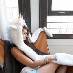 Bonnet écharpe moufles licorne