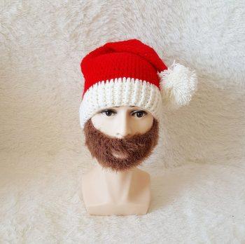 Bonnet de Noël avec barbe original
