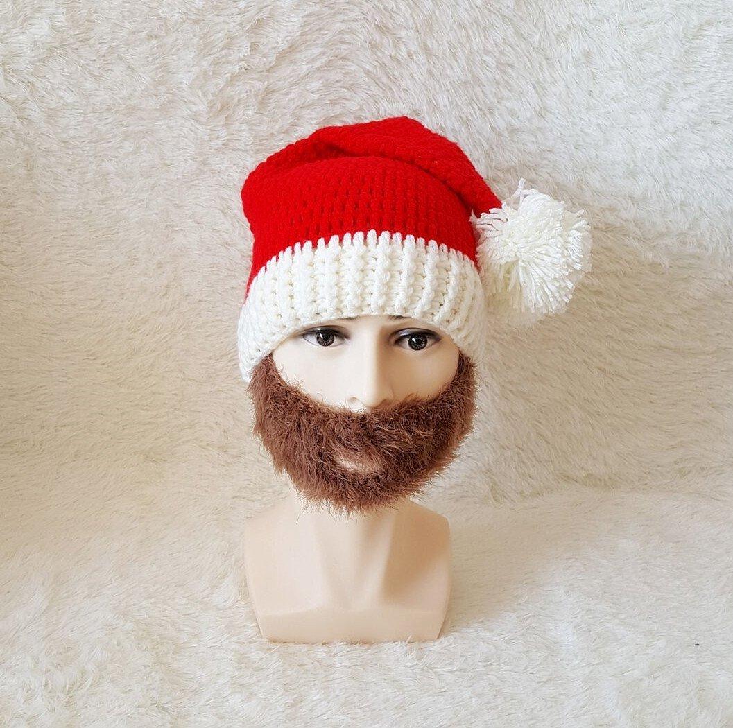Bonnet de Noël avec barbe - Cadeau de Noël original - Mr. Etrange c92f0cecba4