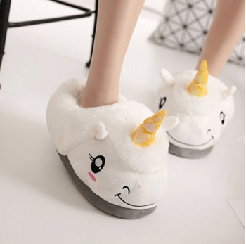 Chaussons licorne insolite
