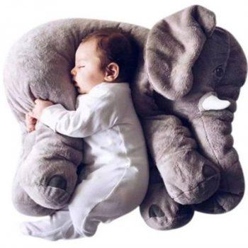 Coussin éléphant bébé insolite