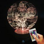 Lampe déco étoile de la mort Star Wars