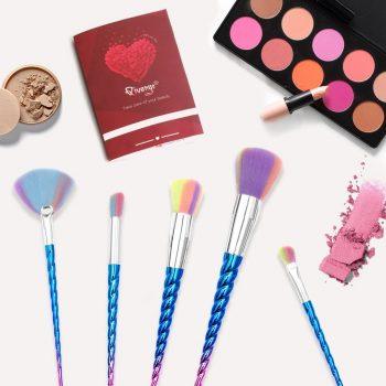 Pinceaux maquillage licorne original