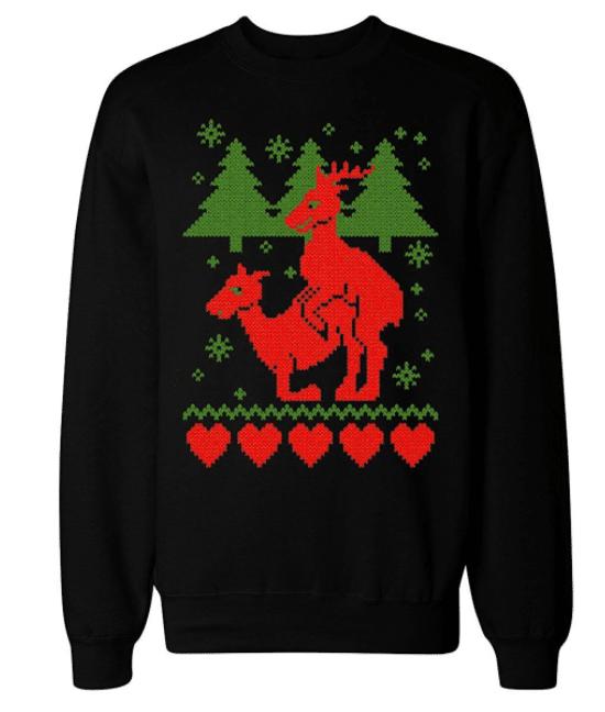 Sweat de Noël rennes original