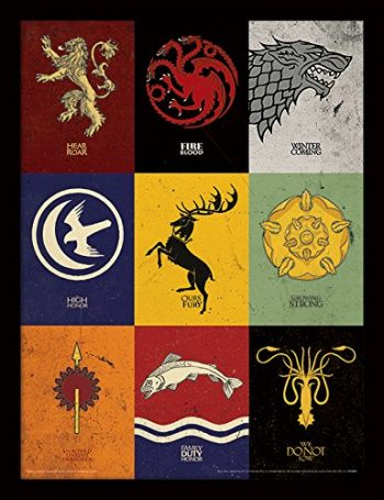 Affiche encadrée Game of Thrones geek insolite