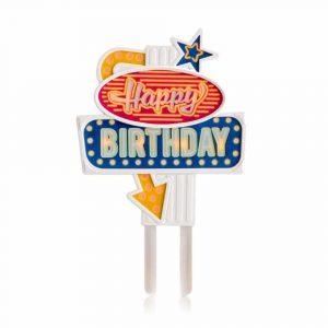 Décoration clignotante pour gâteau d'anniversaire original