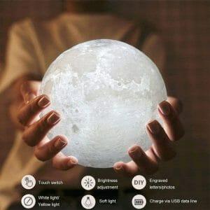 Lampe 3D lune gadget insolite