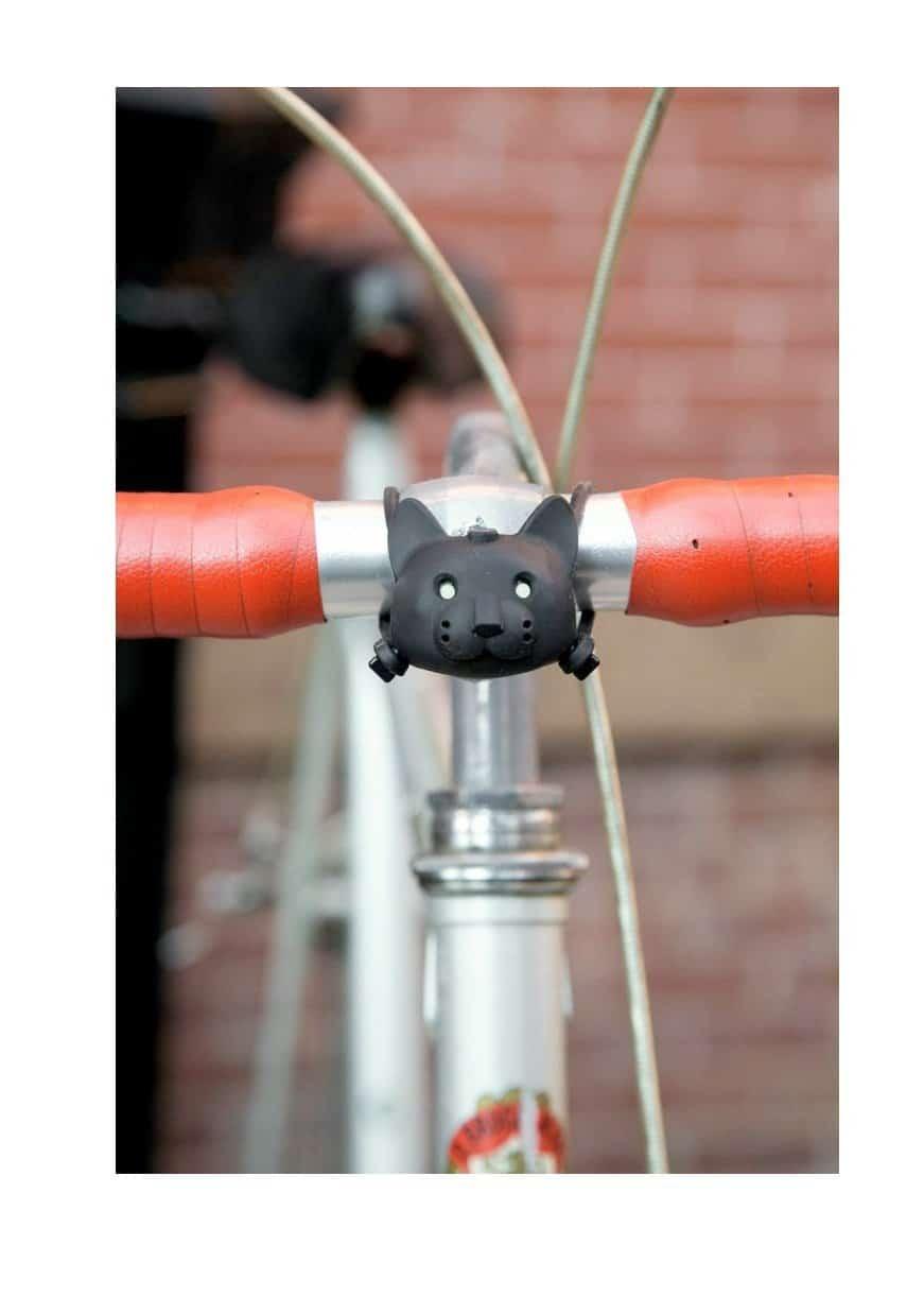 Lampe vélo chat qui parle gadget original