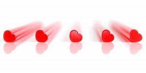 Pailles en forme de coeur Saint Valentin original