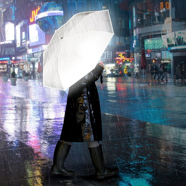 Parapluie réfléchissant gadget original