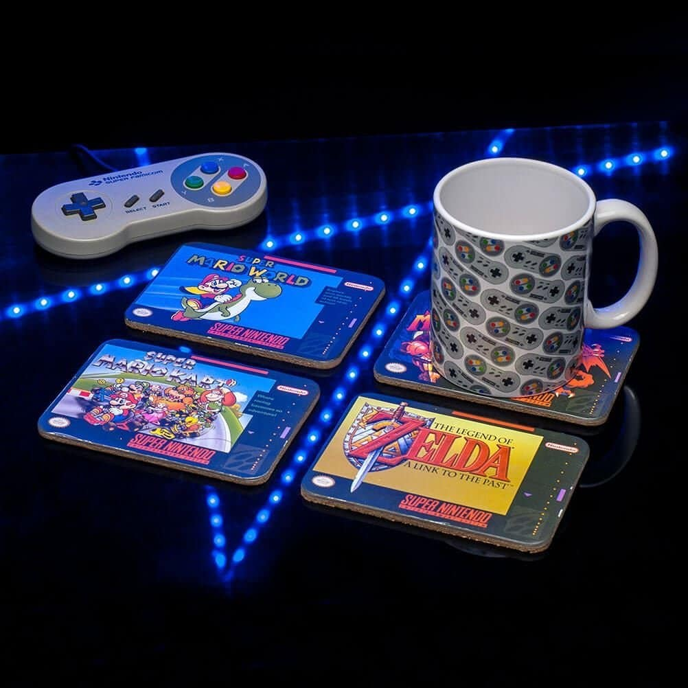 Sous verres Super Nintendo geek original