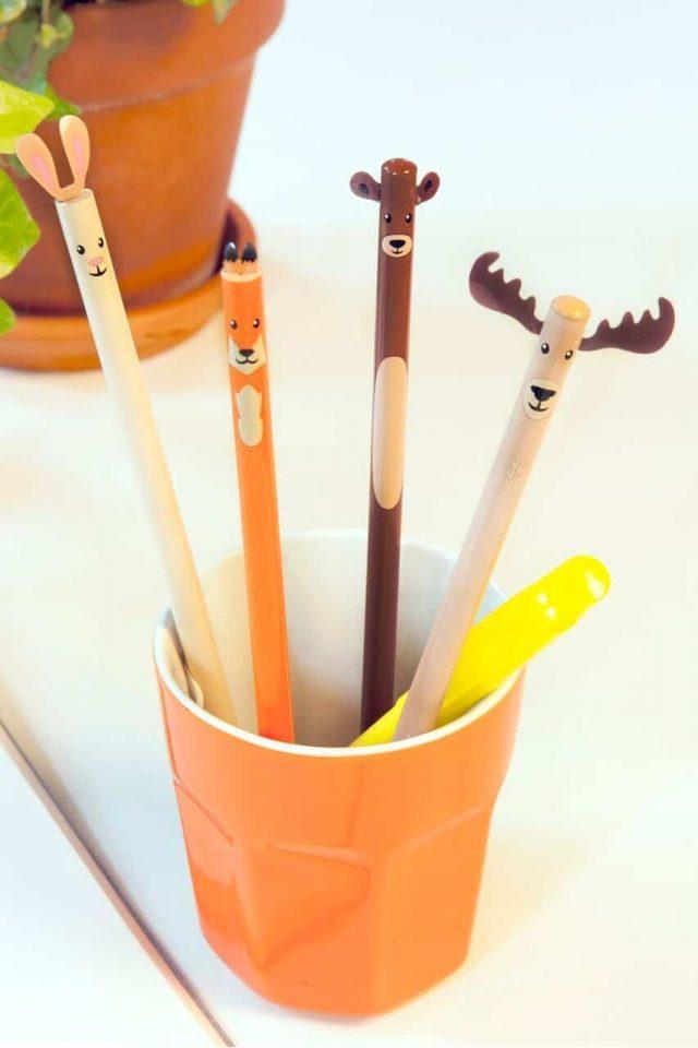 Crayons animaux de la forêt gadget insolite