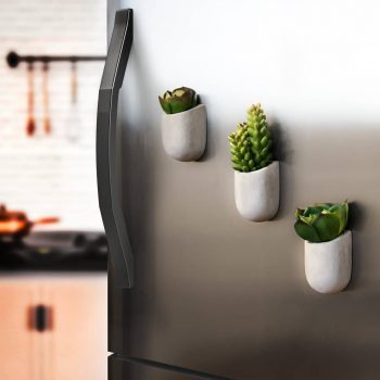 Pots de fleurs aimantés maison original