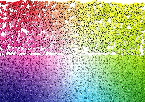 Puzzle dégradé de couleurs maison insolite