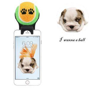 Jouet à fixer sur smartphone pour selfies avec animaux