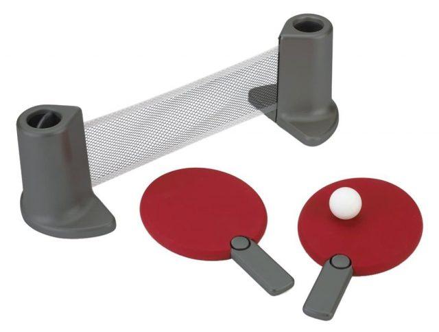 Set de ping-pong portable insolite