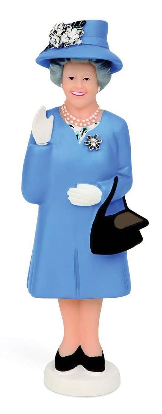 Figurine solaire Reine Elisabeth II