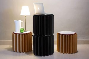 Bookniture : tabouret ultra-compact insolite