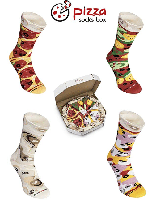 Pizza Socks Box chaussettes originales