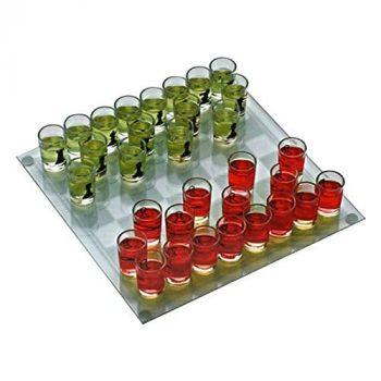 Jeu d'échecs à boire insolite