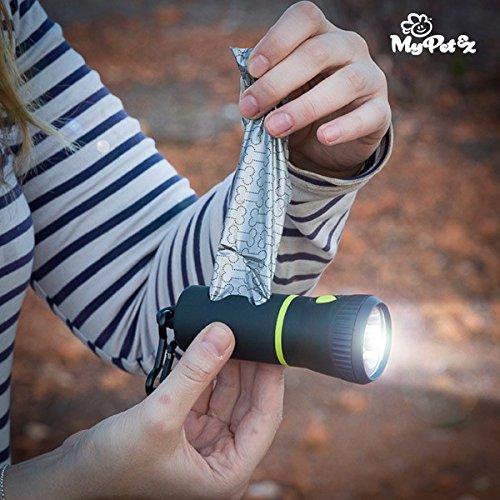 Lampe-torche à compartiment pour sacs ramasse-crottes insolite animaux