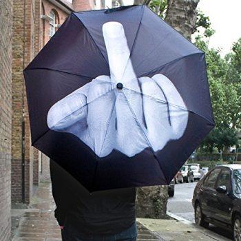Parapluie fuck the rain insolite