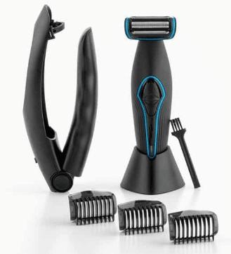 Tondeuse pour poils corps et barbe avec poignée amovible insolite