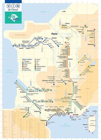Affiche carte des vins plan de métro insolite maison