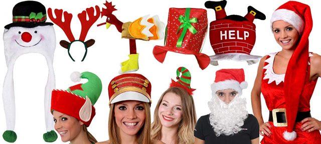 Chapeaux et bonnets de Noël insolite