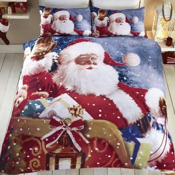 Parure de lit Père Noël insolite