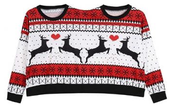 Sweat de Noël double et pull de Noël pour femme insolite