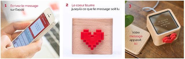 Concept de la boite à message d'amour Lovebox