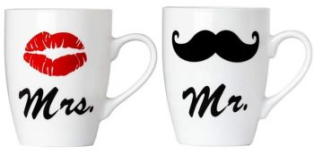 Tasses Mrs. et Mr. (Madame et Monsieur)