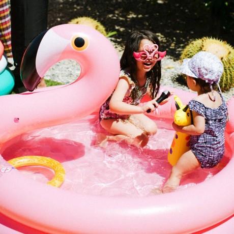 piscine pour enfants flamant rose