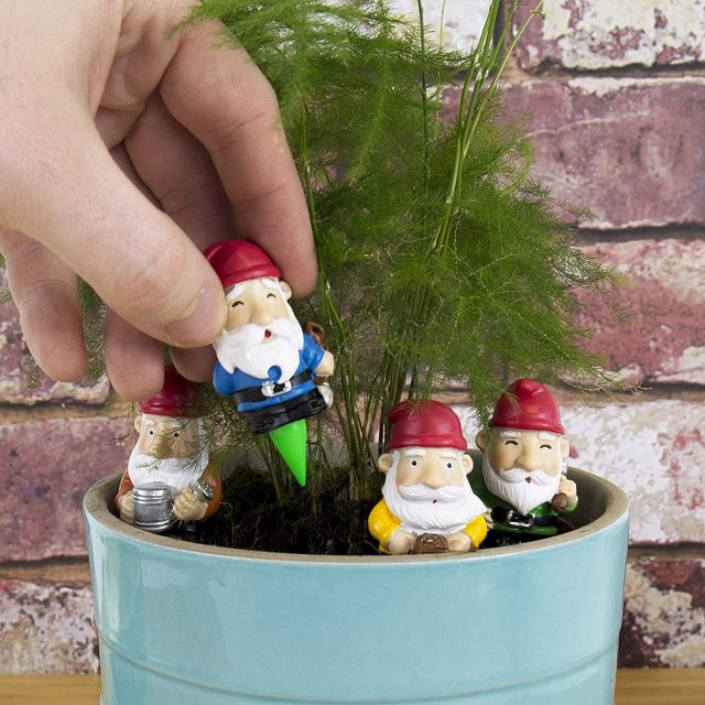 Gnomes décoratifs pour pot de fleur original