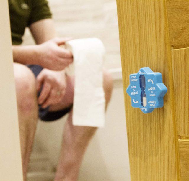 Minuteur pour toilette insolite